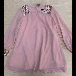 Sequin heart girls dress